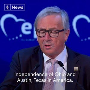 I am going to promote the independence of Ohio and Texas.  EU Commission Jean-Claude Jun #news #alternativenews