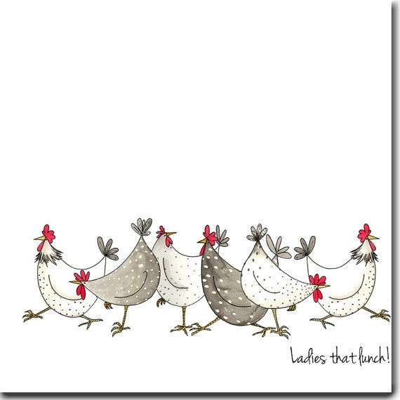 Ladies that lunch Greeting Card by TheSkinnyCardCompany on Etsy