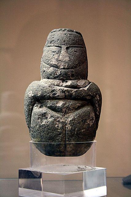 Neolithic mother goddess figurine, Sardinia, 5th millennium BCE.