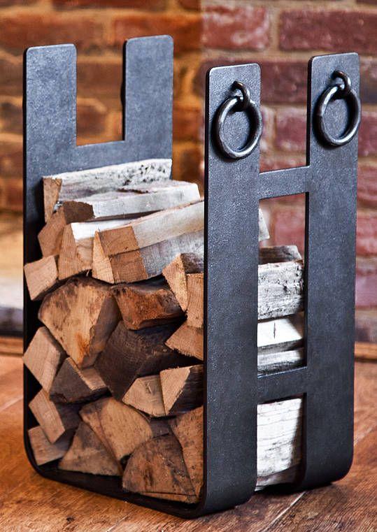Square Ironwork Log Holder from notonthehighstreet.com
