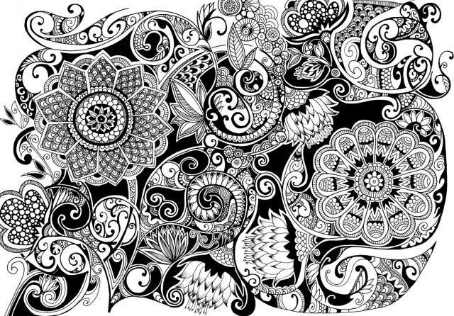 Zentangle Pattern Gallery   ボタニカル(植物)デザインと、マオリ族のトライ ...