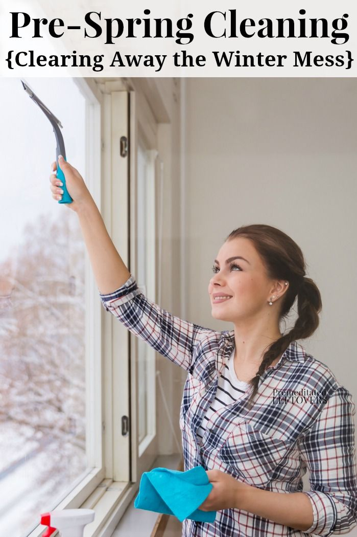 Early Spring Cleaning - March Cleaning Checklist to help clear away the winter mess from your home and organize winter gear for next year. DIY house management idea for getting a jump start on spring cleaning.
