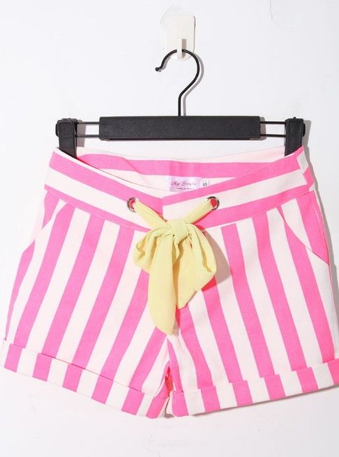 adorable: Rose Red, Pink Stripes, Red Casual, Casual Broken, Cute Shorts, Stripes Denim, Denim Shorts, Stripes Shorts, Broken Stripes