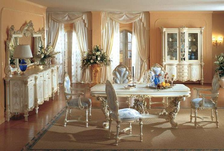 Sala da pranzo stile veneziano - Elegante sala da pranzo