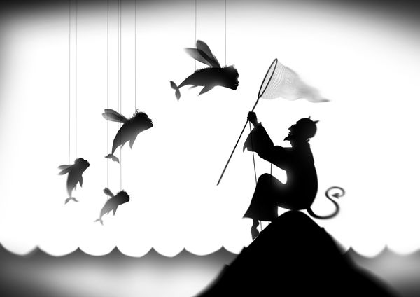 Shadow Theater Tales by Alexander Ovchinnikov, via Behance
