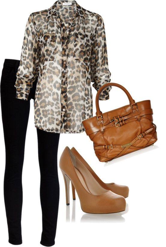 "I need this shirt and don't care if anyone says I look like Snooki while wearing it!!! ""Leopard Obsession"" by karrina-renee-krueger on Polyvore - Click image to find more Hair & Beauty Pinterest pins"