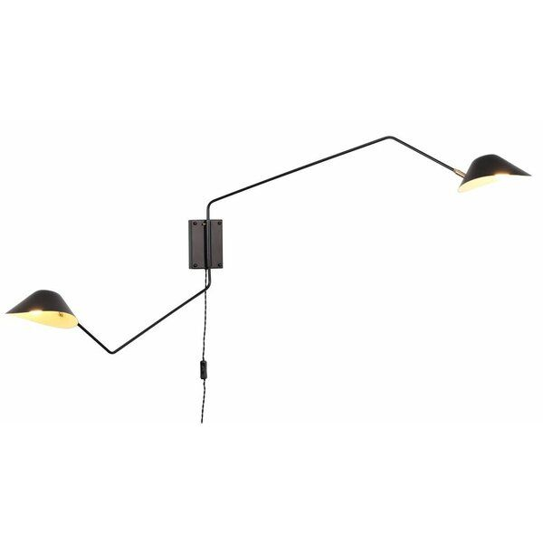 Creswell 2 Light Swing Arm Lamp In 2020 Swing Arm Wall Lamps Swing Arm Lamp Lamp