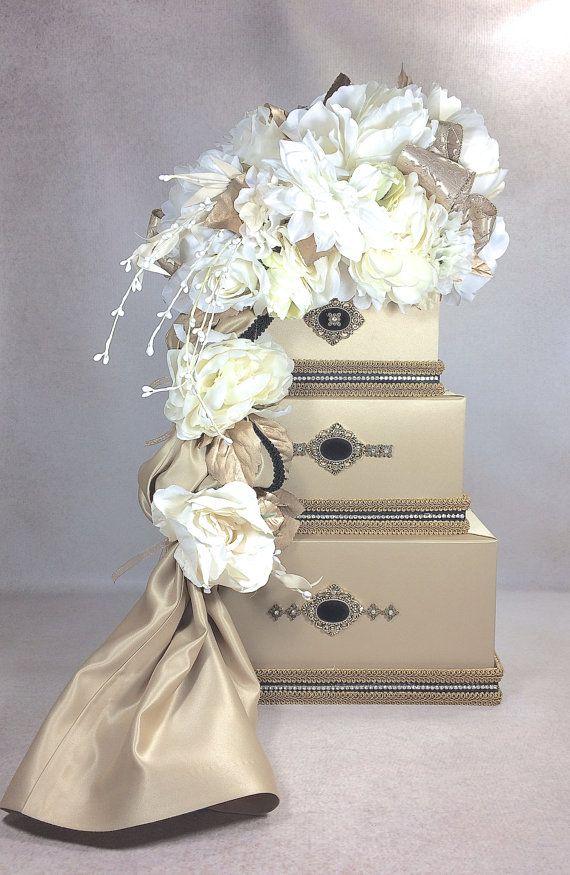 wedding card box gold with black wedding card holder wedding card box secure lock wedding card box handmade wedding card box