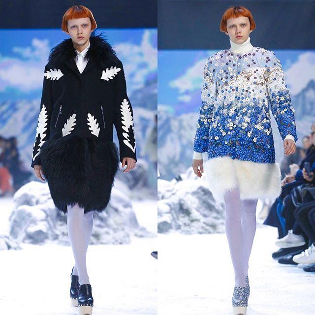 #❄️ Katie Moore closes Moncler Gamme Rouge on the last day of #Paris fashion week    #TrumpModels  #KatieMoore  #PFW16  #RUNWAY