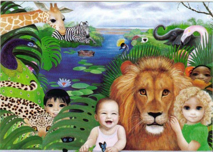 """Happy Kingdom"" by Margaret Keane One of The Many Wonderful Jehovahs Witnesses"