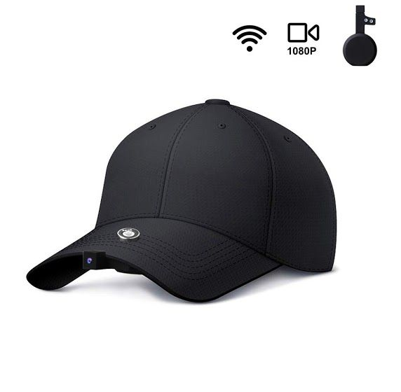 New Review Dyfz 1080p Hd Fishing Camera Hat Camera Cap Mini Camera Recording By Shaking Time Lapse Video Wifi Auto Zoom Include 16gb Card For Outdoor Sports R