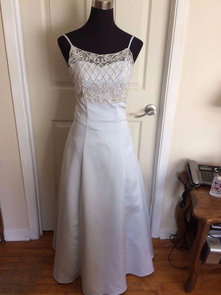 Celavie Powder Blue Spaghetti Strap Bridesmaid Prom Evening Gown Small Size 6