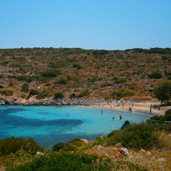 Agia Dinami beach at South Chios island