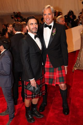 Kilted bromance? guy on the right great  Marc Jacobs in Tartan Kilt: Black Tie option