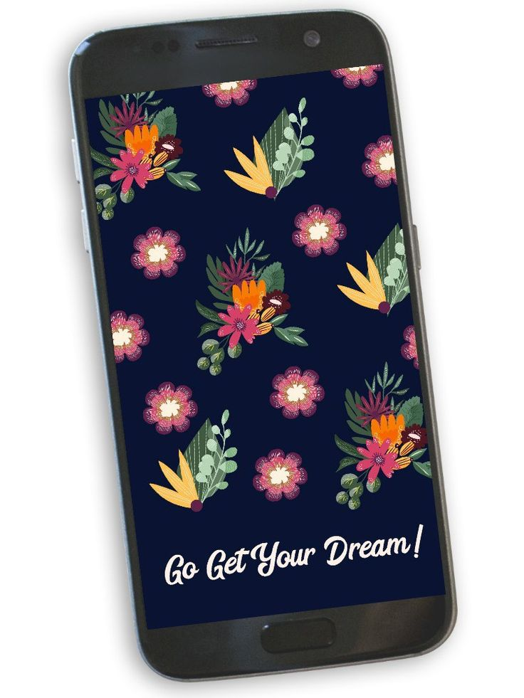 Go Get Your Dream Phone Wallpaper: Free download floral phone wallpaper | blowin...