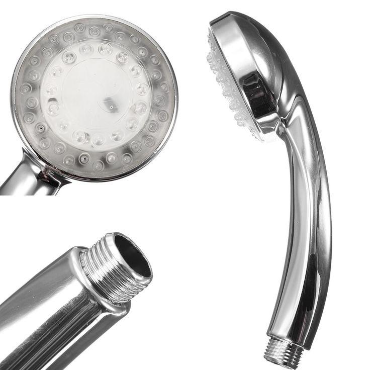 Us 10 59 Badezimmer Handheld Aus Chrom Abs Led Duschkopf 7