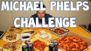 Michael Phelps Diet Challenge (12,000+ Calories), via YouTube.