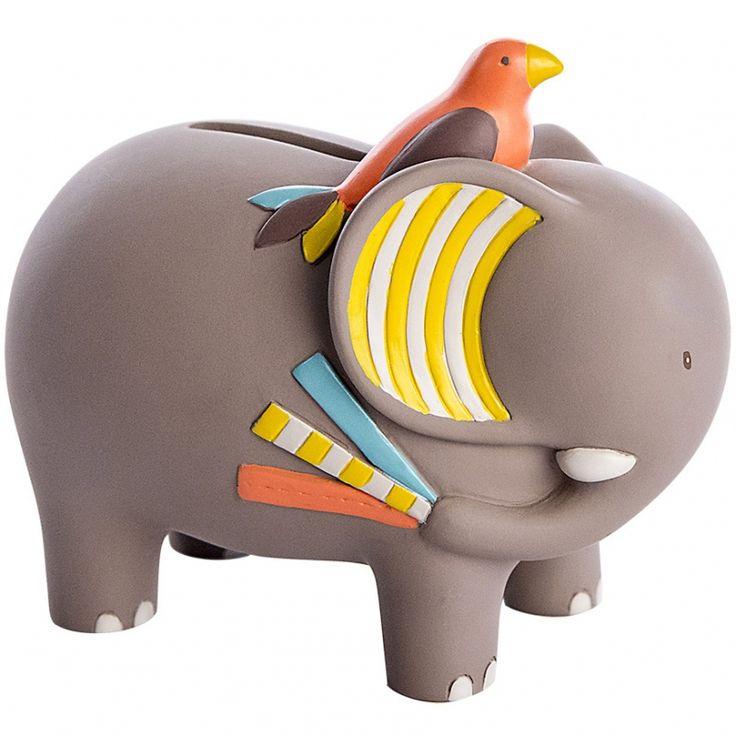 La tirelire éléphant de la collection Les Papoum par Moulin Roty récolte l'argent d'un enfant et le garde bien au chaud.
