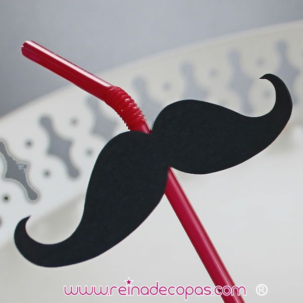 Pajitas rojas con bigotes negros. Para tu photocall. http://www.reinadecopas.com/es/photocall-bodas/372-pajitas-rojas-bigote-negro-6-uds.html