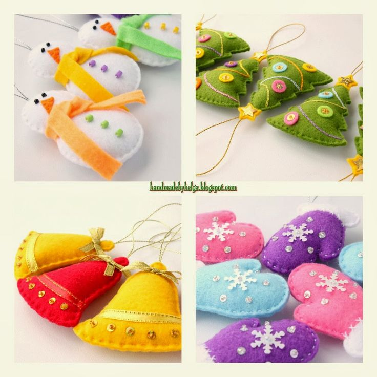 ** Handmade by Helga: Felt Christmas tree Ornaments - ADORABLE!! She has a WONDERFUL blog!