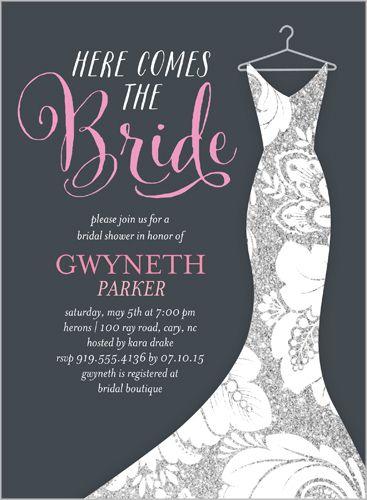 Dazzling Dress Bridal Shower Invitation