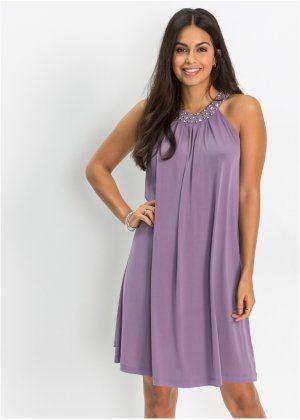 80828b70575562 Jersey-Kleid mit Steinchen-Verzierung, BODYFLIRT | Dresses | Kleider ...
