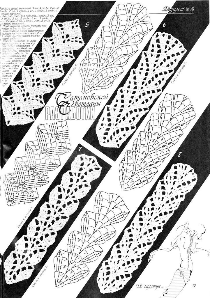 crochet continuous pattern