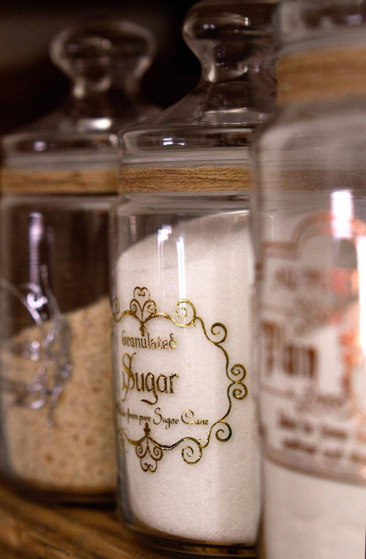 No more ugly paper packaging. Apothecary Sugar jar looks great in your pantry and on the counter. #apothecary #etsy