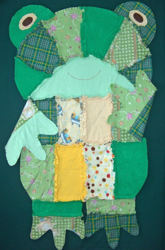 Fleece Frog Rag Quilt by Addicted2Sewing on Etsy, $55.00