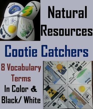 """cootie catcher"" with vocabulary terms in relation to the unit. Would be handy for partner study time before a quiz/test. -LC"