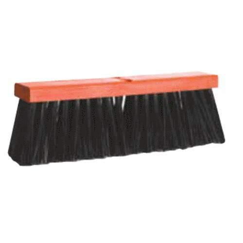 "DQB 08514 Poly Push Broom Head Only 18"" Black"
