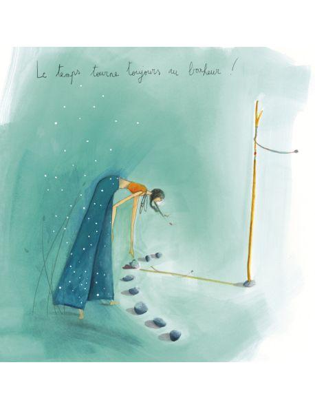 """Anne-Sophie Rutsaert square card """"Le cadran solaire"""""""