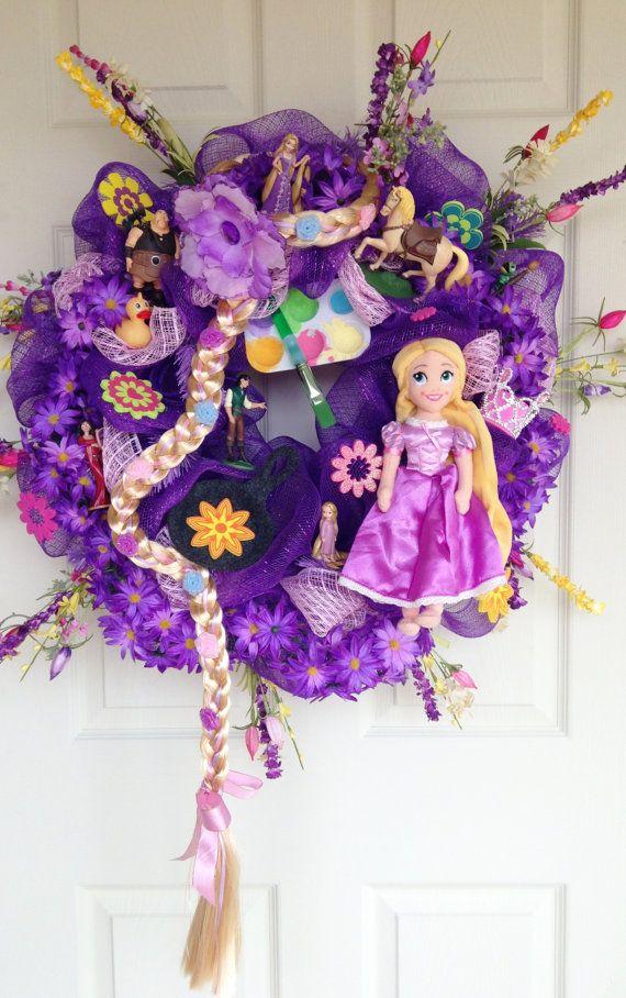 Tangled Rapunzel Disney Princess Wreath by SparkleForYourCastle, $159.00