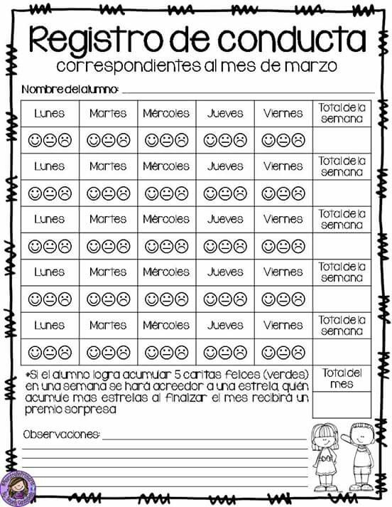 Registro de conducta 2
