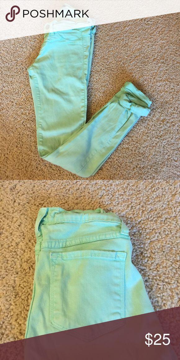 Mint Green Skinny Jeans Mint green Jeans Skinny