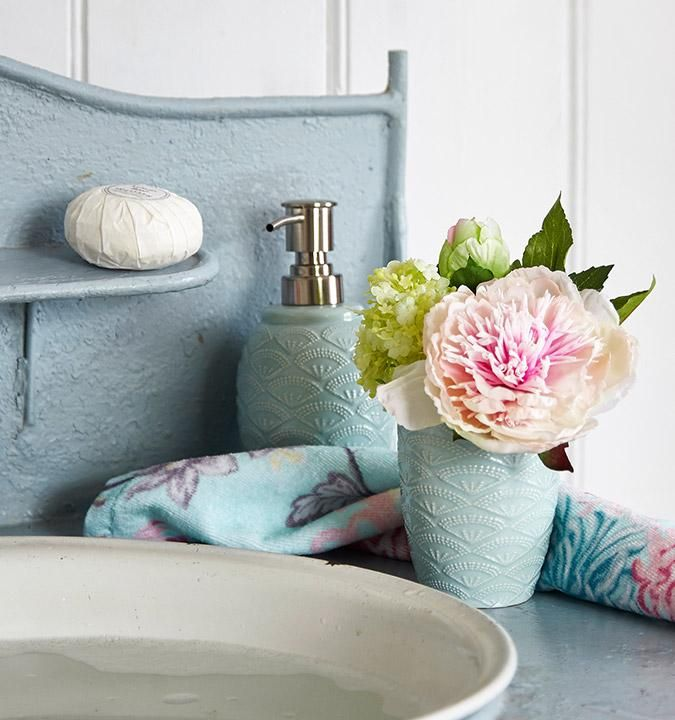 Our vintage themed bathroom collection in our