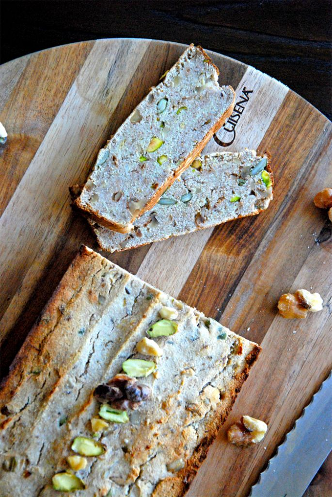 Pistachio walnut bread (wheat free, gluten free)