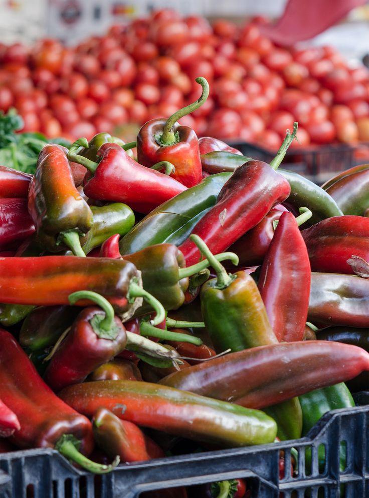 Jurassic-size Anaheim peppers at Tutti Frutti - Santa Monica Farmers Market