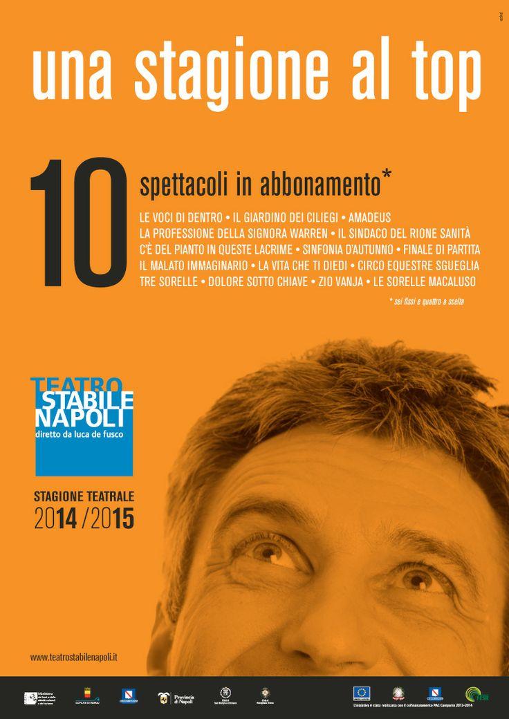 """Campagna di #comunicazione """" una #stagione al top""""  #Mercadante - #Teatro Stabile di #Napoli  #art #melodramma #opera #tragedie"""
