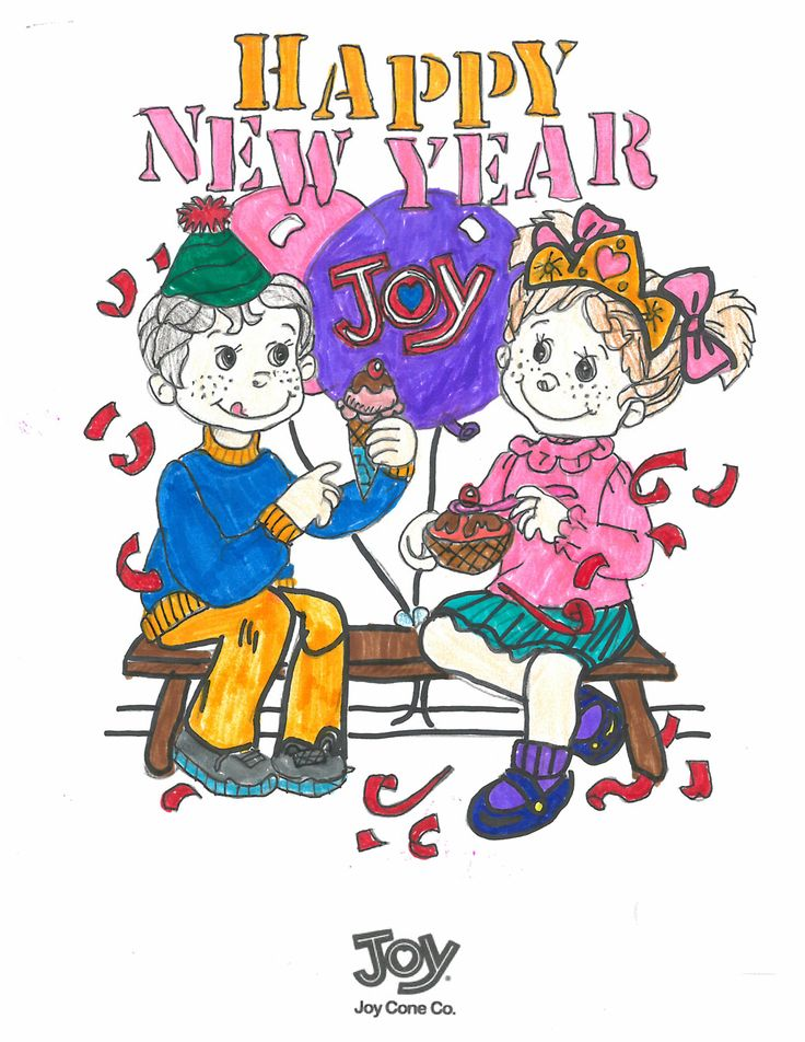 Joy Cone January Coloring Sweepstakes winner submission from Caity from NJ age 11! #bringJOYhome #icecream #coloring