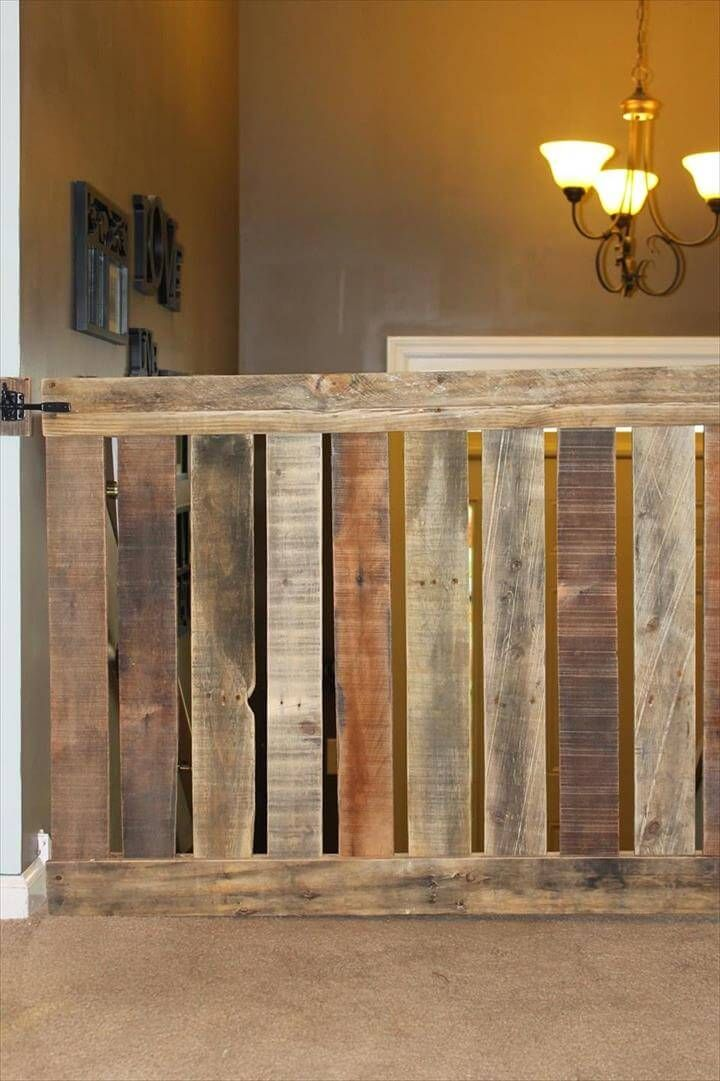 DIY Pallet Baby Gate For your Stairway! Diy baby gate