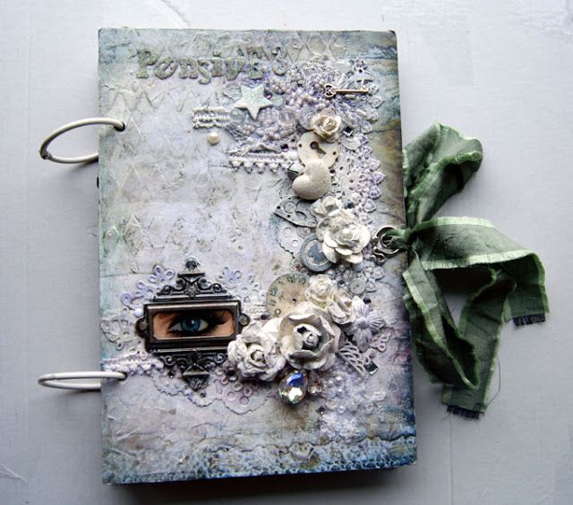 Winter Art journal cover #3 with 7 Dotts Studio Wonderland papers