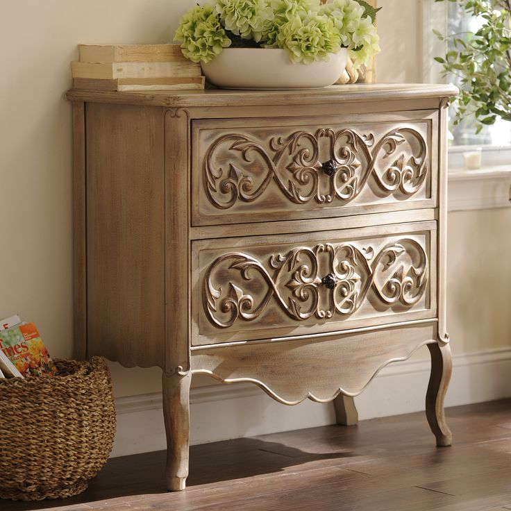 Give Your Home The Charm Of A Lovely, Country Cottage With This Carved  Antique Cream