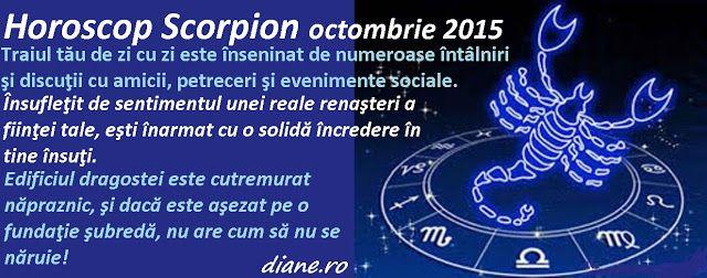 diane.ro: Horoscop Scorpion octombrie 2015