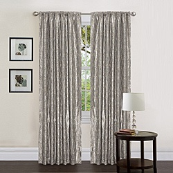 ooohhhh pretty! seems like it has a bling bling glitter look- perfect for my master bath redo..  @Overstock - Decorate your home with this Taffeta cord embroidered curtain panels. Rod pocket slides onto curtain rod for easy installation.   http://www.overstock.com/Home-Garden/Lush-Decor-Silver-84-inch-Angelica-Curtain-Panel/6537332/product.html?CID=214117 $26.95