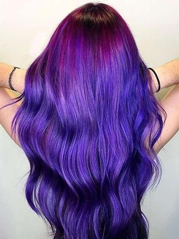 Popular Multi-Colors Purple Color Tape In Premium Remy Human Hair Extensions