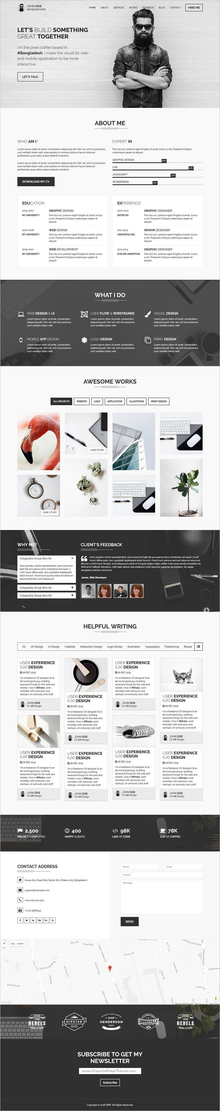 cvit is a multipurpose bootstrap template for personal