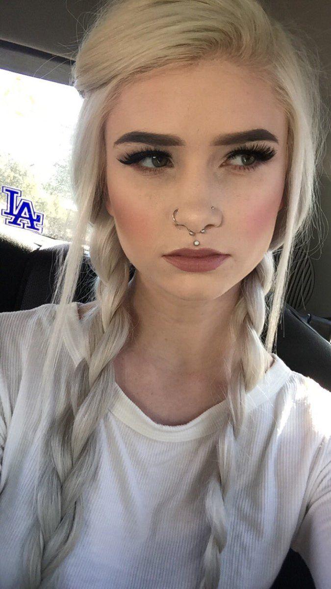 Piercing through bridge of nose   best piercings images on Pinterest