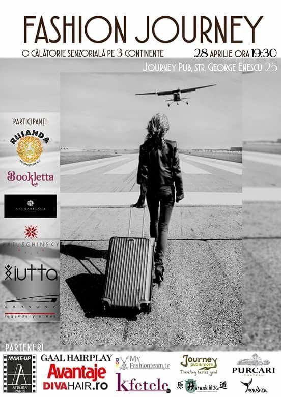 Next big event: 5 designeri, 3 continente, 2 ore de calatorii, muzica si moda .  #fashionjourney #fj #28aprilie #journeypub #rusanda #bookletta #iutta #patuschinsky #andrabiancastoican #casadeidei #event #journey