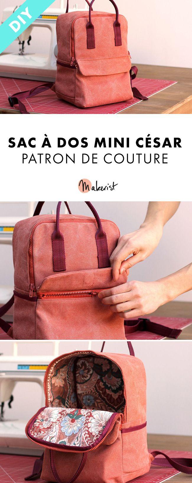 Patron de couture – Sac à dos Mini-César